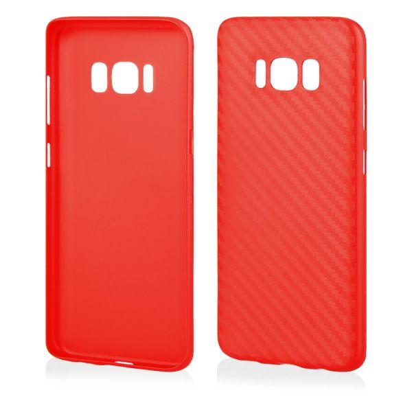 """Schutzhülle """"Carbon PC"""" für Samsung Galaxy S8 Plus rot"""
